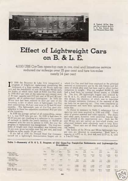 """Effect of Lightweight Cars On B&le"" Article (1940)"