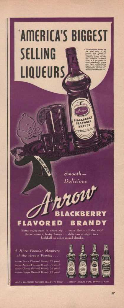 Arrow Blackberry Flavored Brandy (1949)