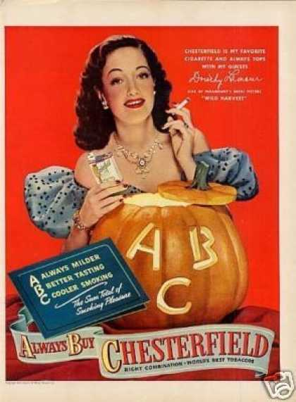 Chesterfield Cigarettes Ad Dorothy Lamour (1947)