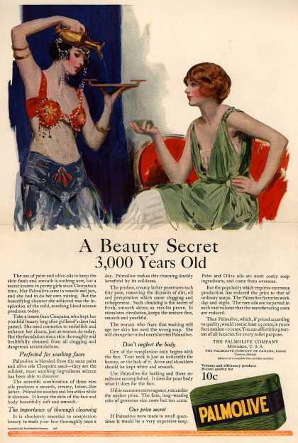 Palmolive Company's Palmolive Soap – A Beauty Secret 3,000 Years Old (1922)