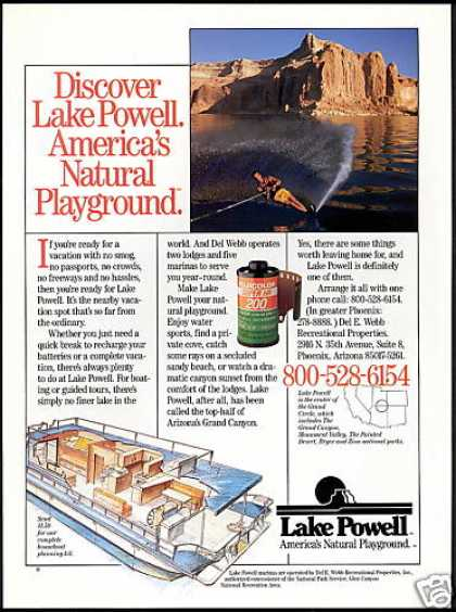 Lake Powell Vacation Travel Houseboat Photo (1988)