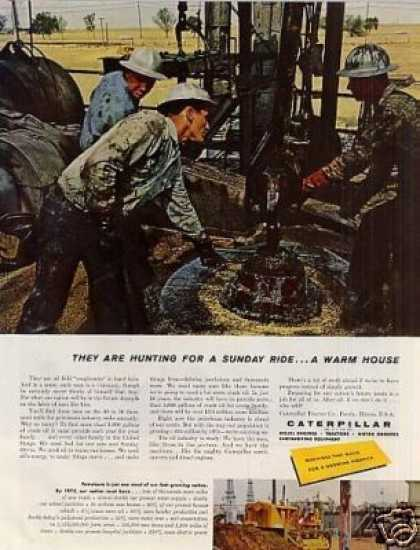 "Caterpillar Tractor Ad ""They Are Hunting For... (1959)"