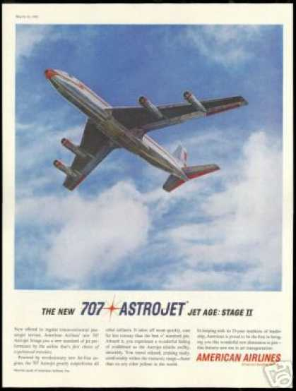 American Airlines 707 Astrojet Airplane (1961)