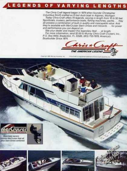 Legends of Varying Lengths Chris-craft Boats (1985)