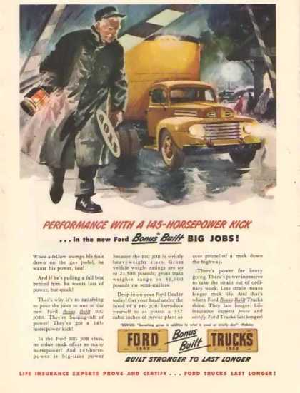 Ford Trucks – 145 Horsepower Kick (1948)