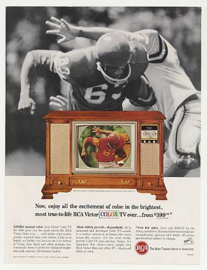 RCA Vista Color TV NCAA Football Television (1964)