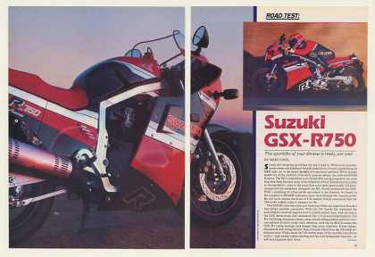 Suzuki GSX-R750 Motorcycle 5-Pg Road Test Article (1986)