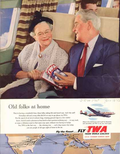 Trans World Airlines – Old folks at home (1953)