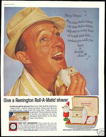 Bing Crosby Photo Remington Shaver Vintage (1959)