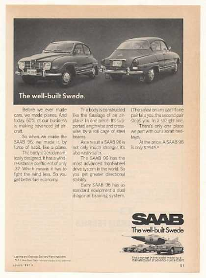 Saab 96 Well-Built Swede Made Like a Plane (1970)