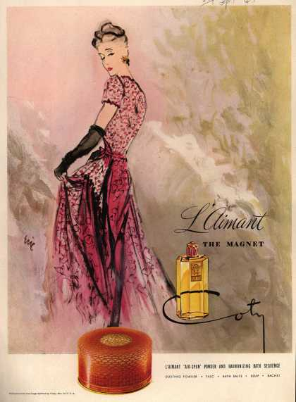 Coty's L'aimant Cosmetics – L'aimant The Magnet (1945)
