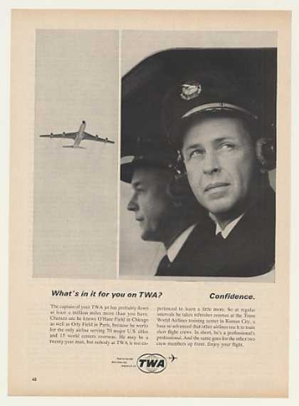 TWA Airlines Jet Captain Confidence (1964)