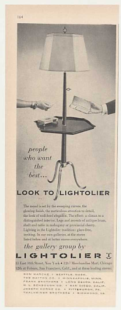 Lightolier Gallery Group Table Lamp (1955)