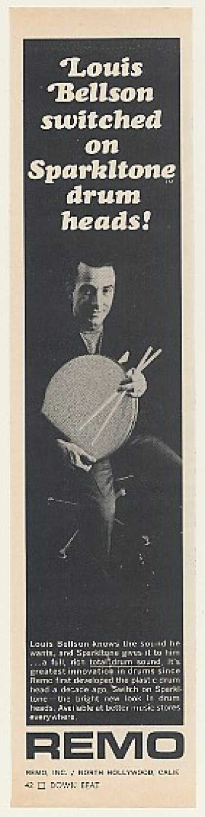 Louis Bellson Remo Sparkltone Drum Heads (1968)