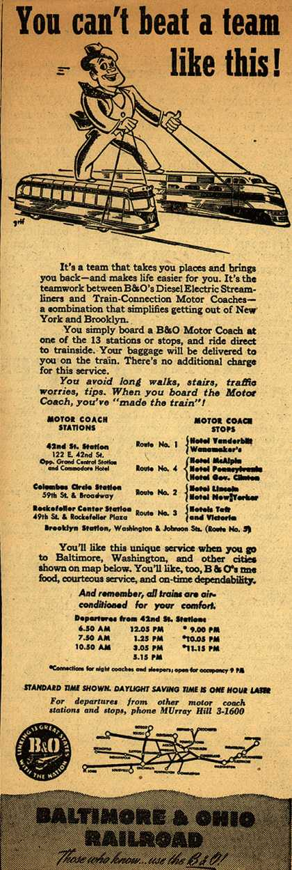 Baltimore & Ohio Railroad's teamwork of the employees – You can't beat a team like this (1947)