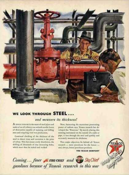 """We Look Through Steel..."" Nice Texaco (1944)"