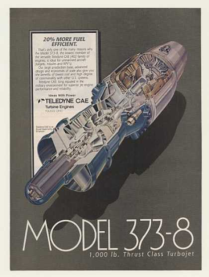 Teledyne CAE Model 373-8 RPV Missile Engine (1984)