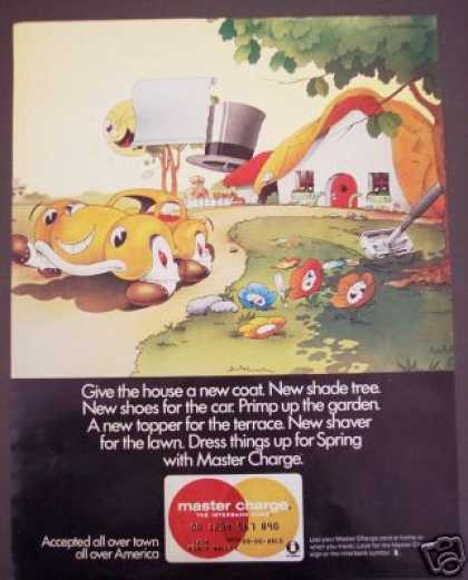 Original Master Charge Card Cartoon Fantasy Art (1970)
