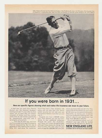 New England Life Ins Golfer Francis Ouimet '31 (1963)