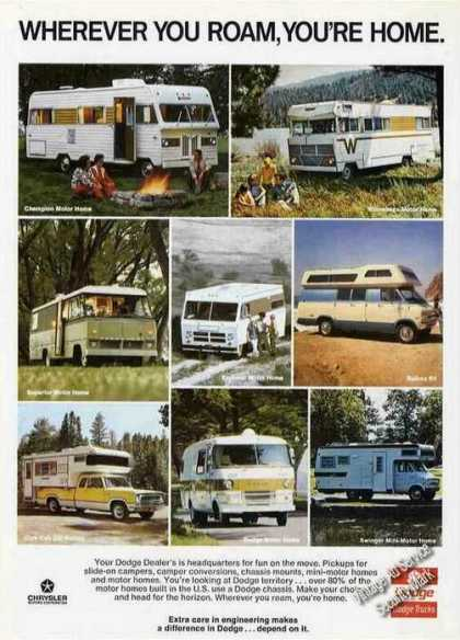 Dodge Trucks for Campers & Motor Homes (1973)