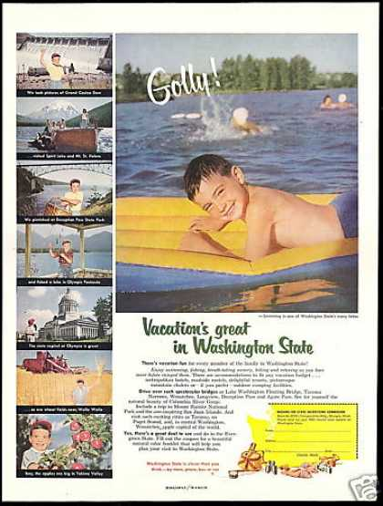 Washington State Travel Grand Coulee Dam (1954)
