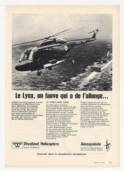 Westland Lynx Helicopter Photo French (1972)