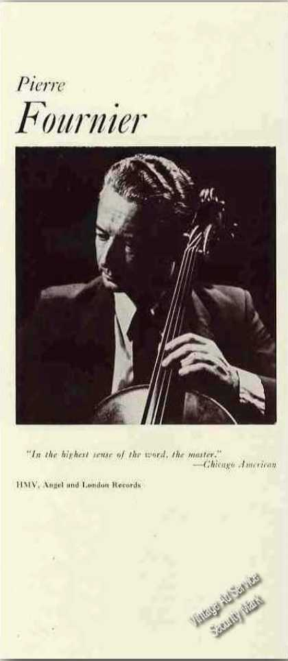 Pierre Fournier Photo French Cellist Trade (1960)
