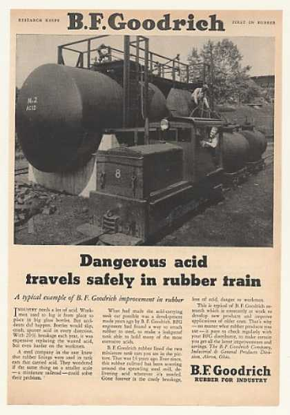 B.F. Goodrich Rubber Train Carries Acid (1952)
