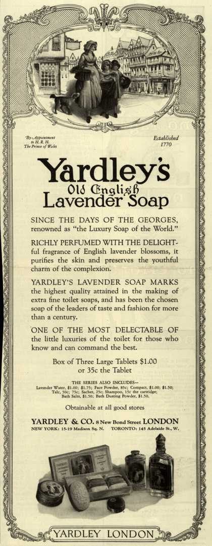 Yardley & Co., Ltd.'s Old English Lavender Soap – Yardley's Old English Lavender Soap (1926)