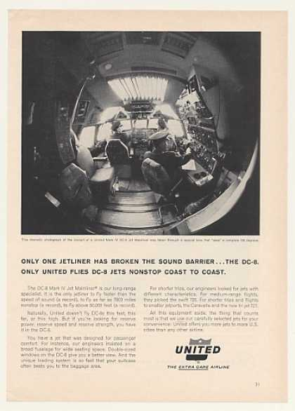 United Airlines Mark IV DC-8 Jet Cockpit (1964)