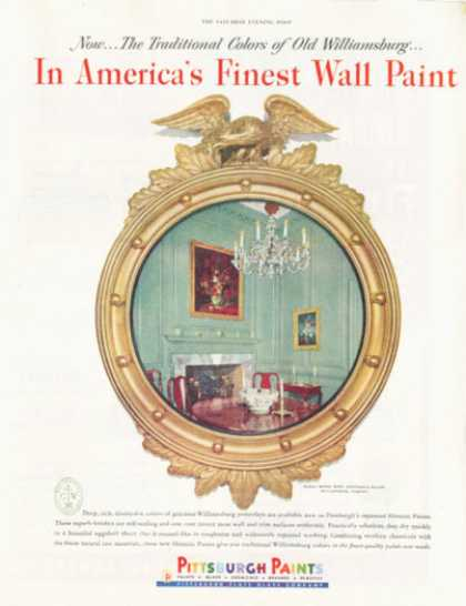 Pittsburgh Paints Governors Palace Virginia (1952)