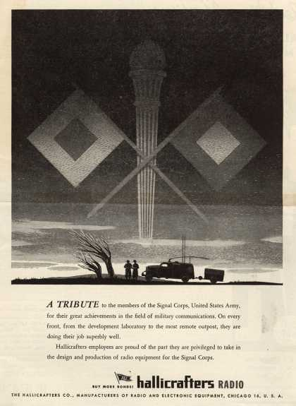 Hallicrafters Company's Radio – A Tribute to the members of the Signal Corps, United States Army (1944)
