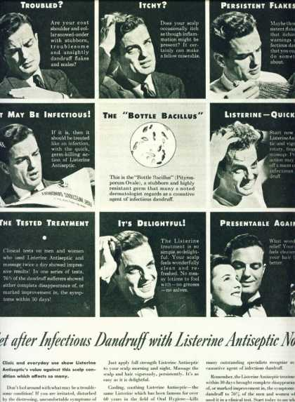 Listerine Antiseptic for Infectious Dandruff (1946)