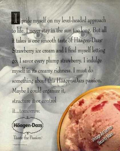 Haagen-daz Strawberry Ice Cream Photo (1991)