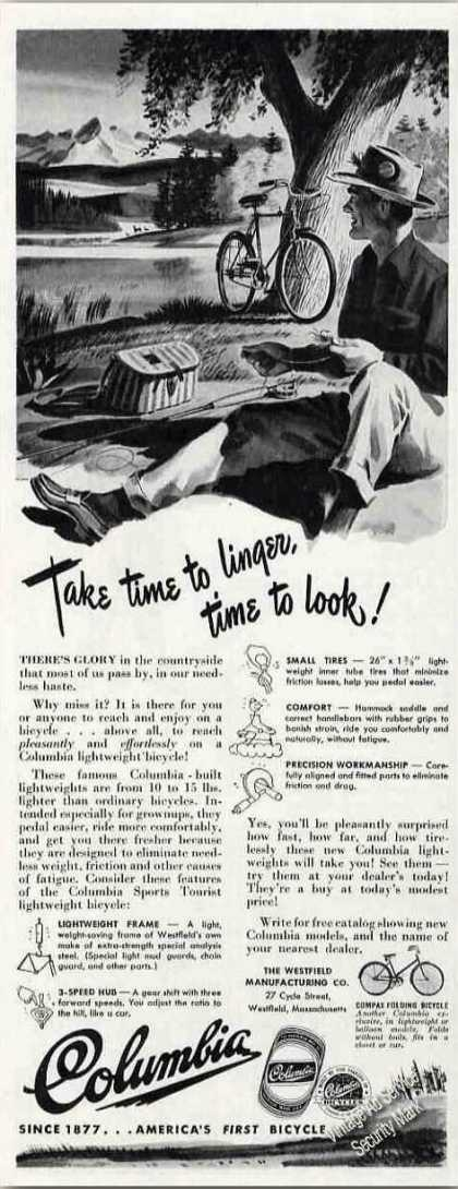 "Columbia Bicycle ""Take Time To Linger To Look"" (1948)"
