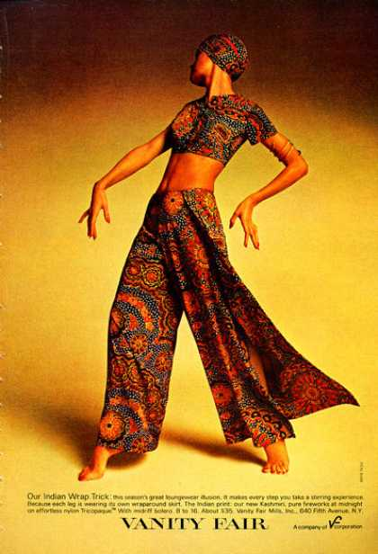 Vanity Fair Indian Wrap Loungewear Fashion (1972)