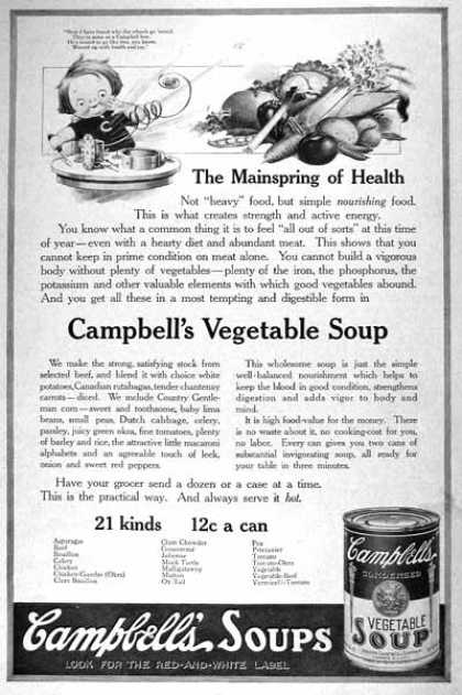 Campbell's Soup #1 (1919)