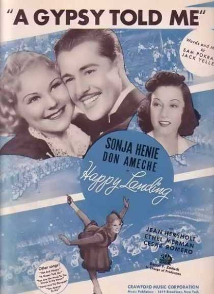A Gypsy Told Me – Don Ameche Movie Sheet Music (1938)