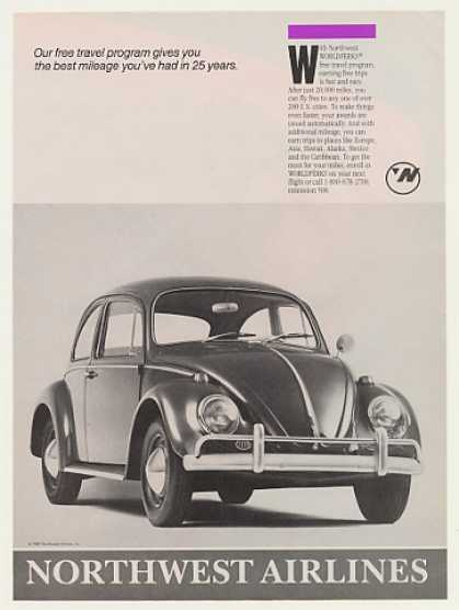 Northwest Airlines Worldperks VW Beetle Bug (1989)