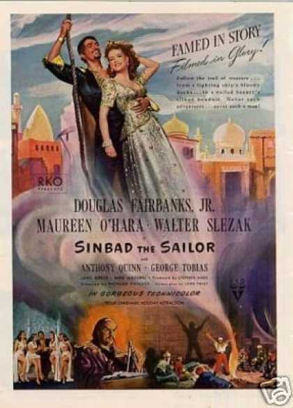 "Movie Ad ""Sinbad the Sailor"" Douglas Fairbanks Jr. (1946)"