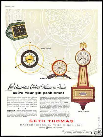 Seth Thomas 4 Clock Photo Vintage (1956)