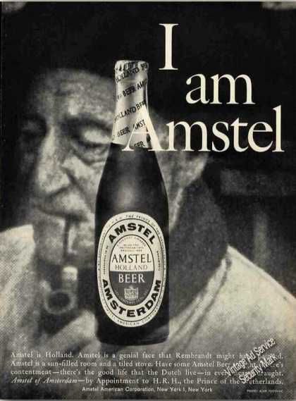 I Am Amstel. Amstel Is Holland. Beer (1960)