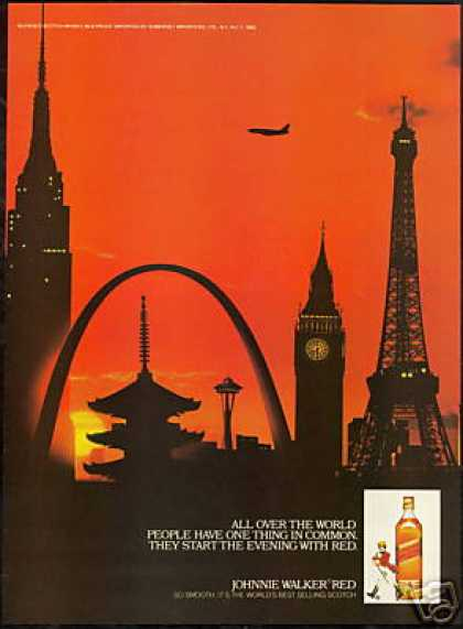 Space Needle Big Ben Johnnie Walker Scotch (1983)