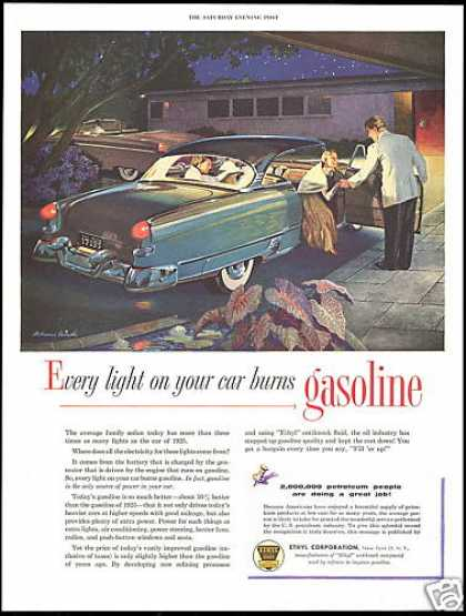 Ethyl Gas Melbourne Brindle Car Art (1954)