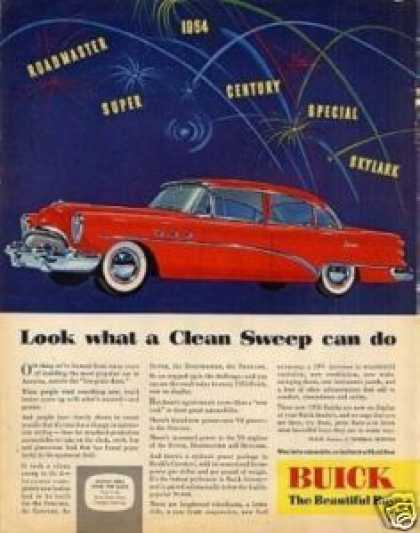 "Buick Super Car Ad ""Look What a Clean... (1954)"