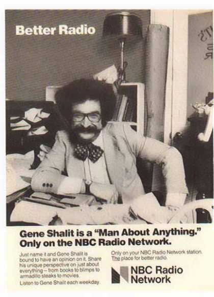 NBC Radio Network &#8211; Gene Shalit (1977)