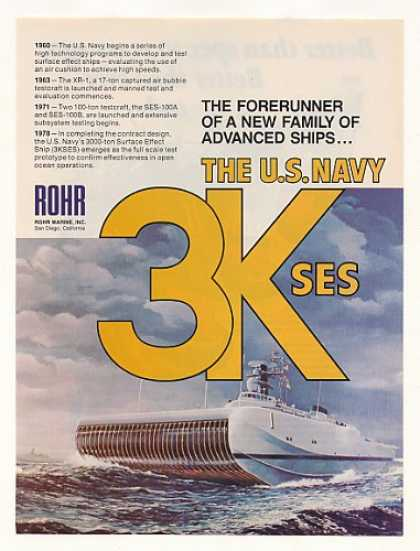 US Navy Rohr 3KSES Surface Effect Ship (1978)