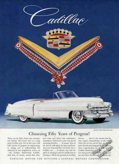 White Cadillac Convertible Car (1952)