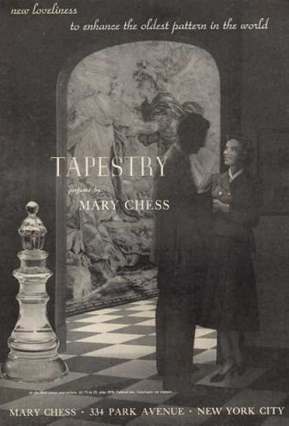 Mary Chess Tapestry Perfume Bottle (1952)