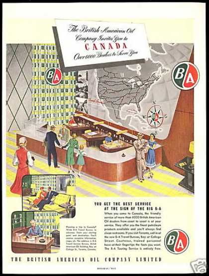 BA Travel Bureau British American Oil Co Canada (1952)